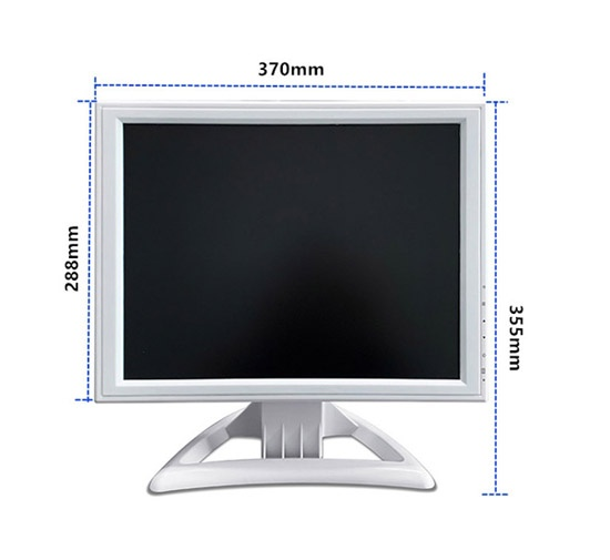 15 Inch led white color computer monitor